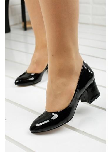 Ayakland Ayakland 97544-312 Rugan 5 Cm Topuklu Bayan Ayakkabı Siyah